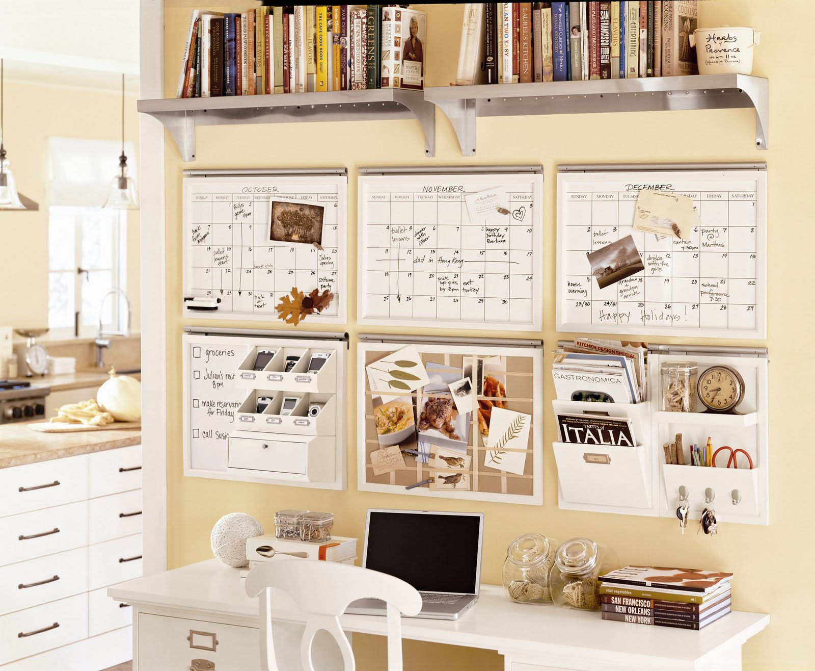 Pottery barn organization center ideas desk ever after - Pottery barn office desk ...